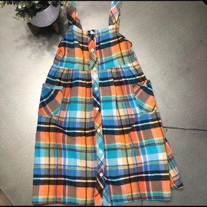 GYMBOREE madras plaid sleeveless dress  9